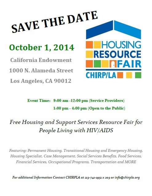 reminder about today s hiv housing resource fair los angeles