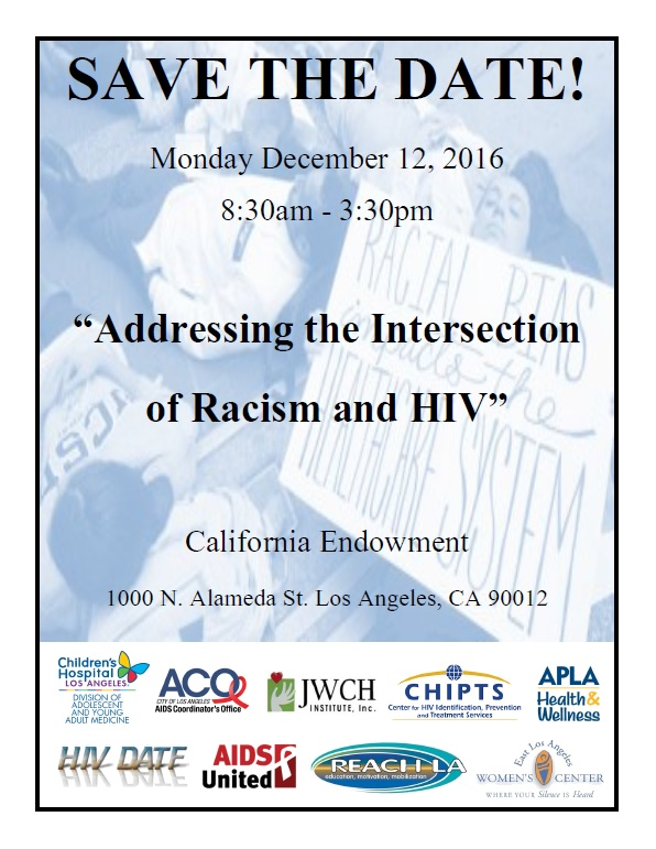 12-12-16 Racism and HIV Save the Date
